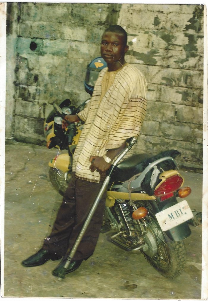 Edwin with his motorcycle